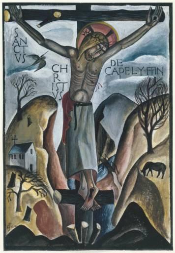 Sanctus Christus de Capel-y-ffin 1925 by David Jones 1895-1974