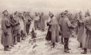 Christmas Truce 1914, as seen by the Illustrated London News.