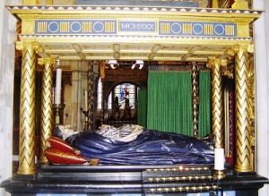 8, The tomb of Bishop Lancelot Andrewes, who helped translate the Authorised Version of the Bible[1]